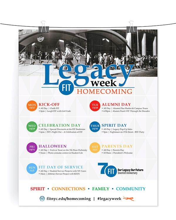 Legacy Week Homecoming poster