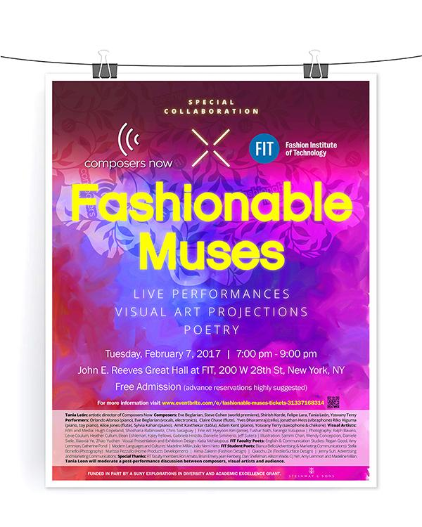 Fashionable Muses event poster
