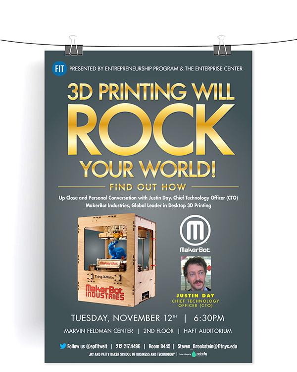 3D Printing Will Rock Your World poster