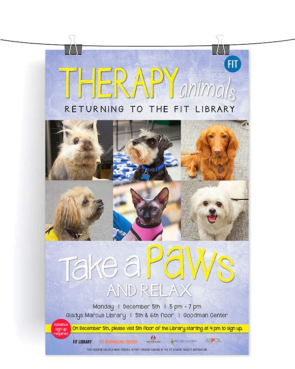 Animal Therapy event poster