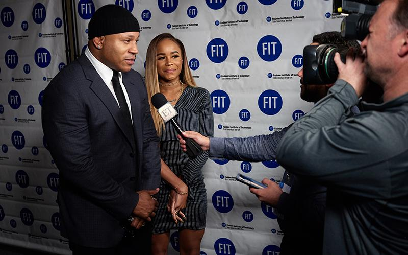 FIT Honorary LL Cool J with his daughter during an interview with Entertainment Tonight at commencement in 2017.