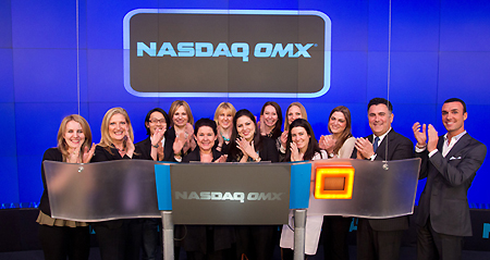Cosmetics and Fragrance Marketing and Management Students at NASDAQ