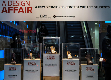 DSW shoes on display