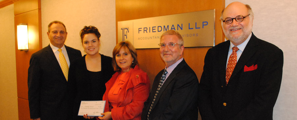 FIT Scholar with Partners at Friedman LLP