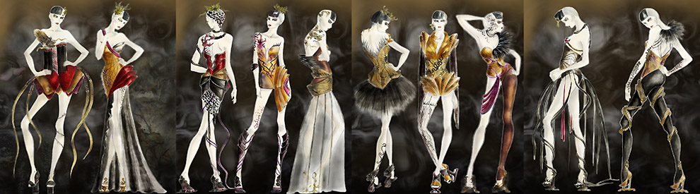 Illustrations from Ou Ma's Avant Garde Collection
