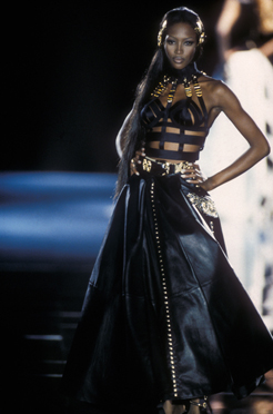 Versace leather evening dress