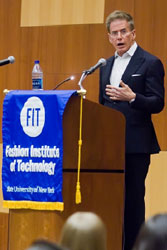 Calvin Klein speaks at FIT