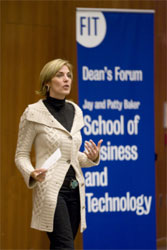 Susan McGalla speaks at FIT