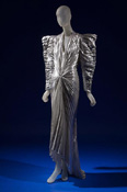 Thierry Mugler silver lame evening dress,1979