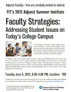 Adjunct Summer Institute Flier