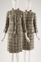 Original Chanel suit, shown with a licensed copy.