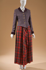 Women's ensemble in tweed and tartan