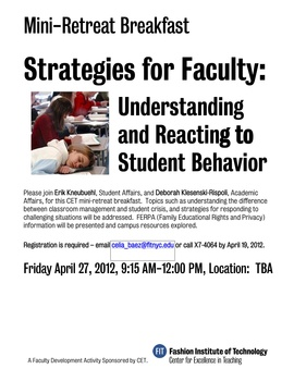 Strategies for Faculty poster