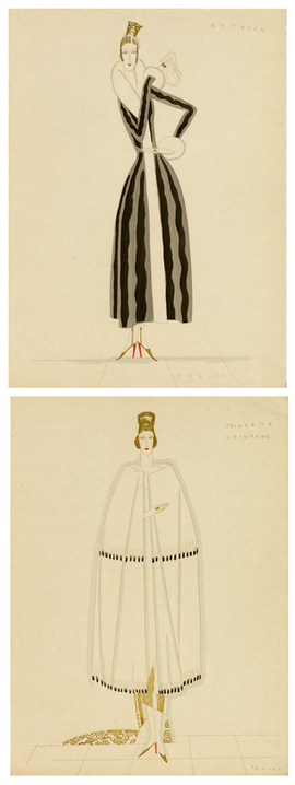 Hand colored plates from Derni�re Lettre Persane, illustrated by Eduardo Garc�a Benito circa 1922