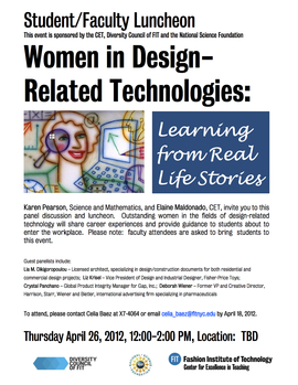 Women In Design Related Technology Poster