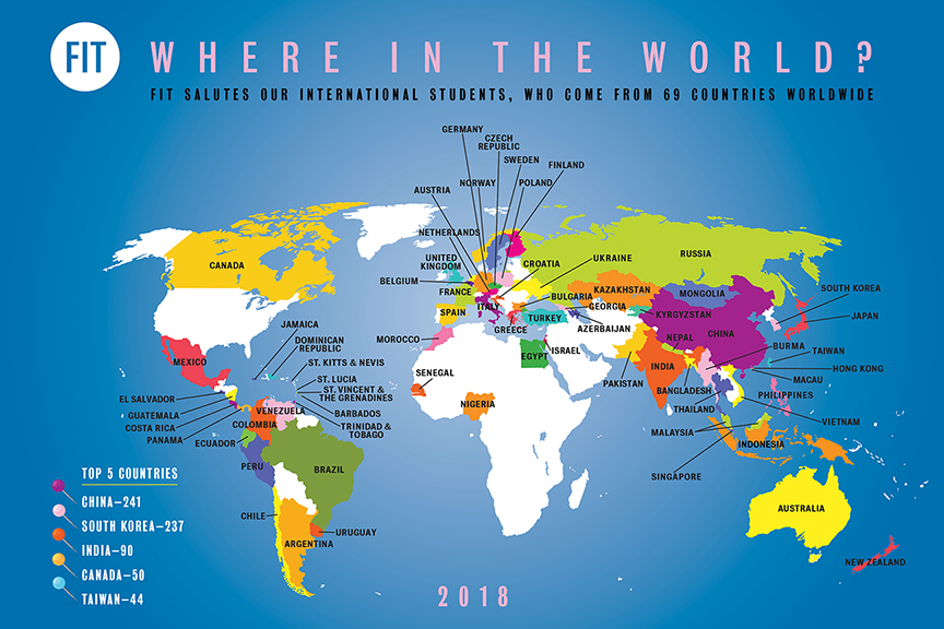 2018 International Student Services Enrollment Map
