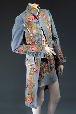 """"" Roberto Cavalli, ensemble, embroidered denim, spring 2003, Italy, Gift of Roberto Cavalli, 2003.45.2, Museum at FIT"