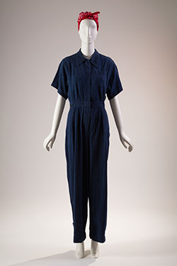 Jumpsuit, denim, 1942-45, USA, gift of David Toser, 2007.63.7, Museum at FIT