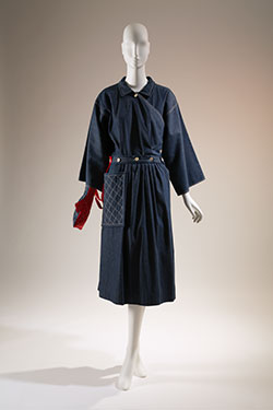 "Claire McCardell, ""Pop Over"" dress, denim, 1942, USA, gift of Bessie Susteric for the McCardell Show, 72.54.1, Museum at FIT"