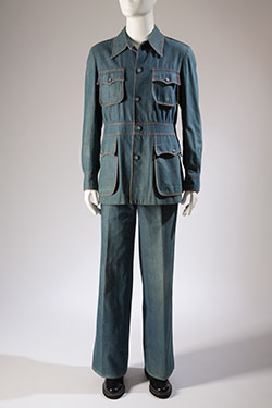 Raphael, leisure suit, denim, circa 1973, Italy, gift of Chip Tolbert, 85.161.8, Museum at FIT