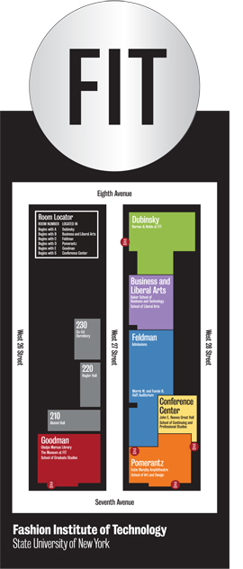 Fit Campus Map Campus Signage and Wayfinding | Fashion Institute of Technology Fit Campus Map