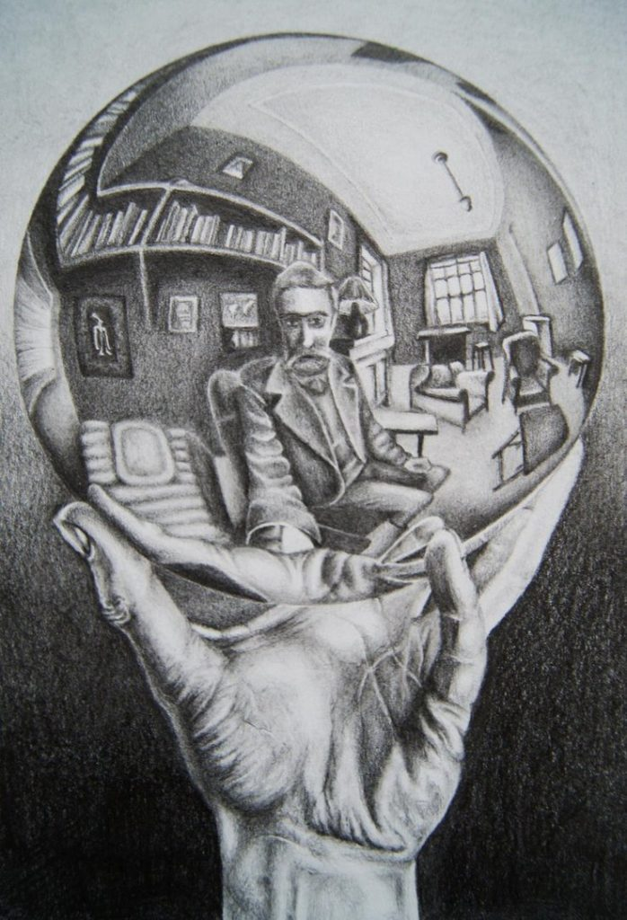 M.C. Escher Hand with Reflecting Sphere