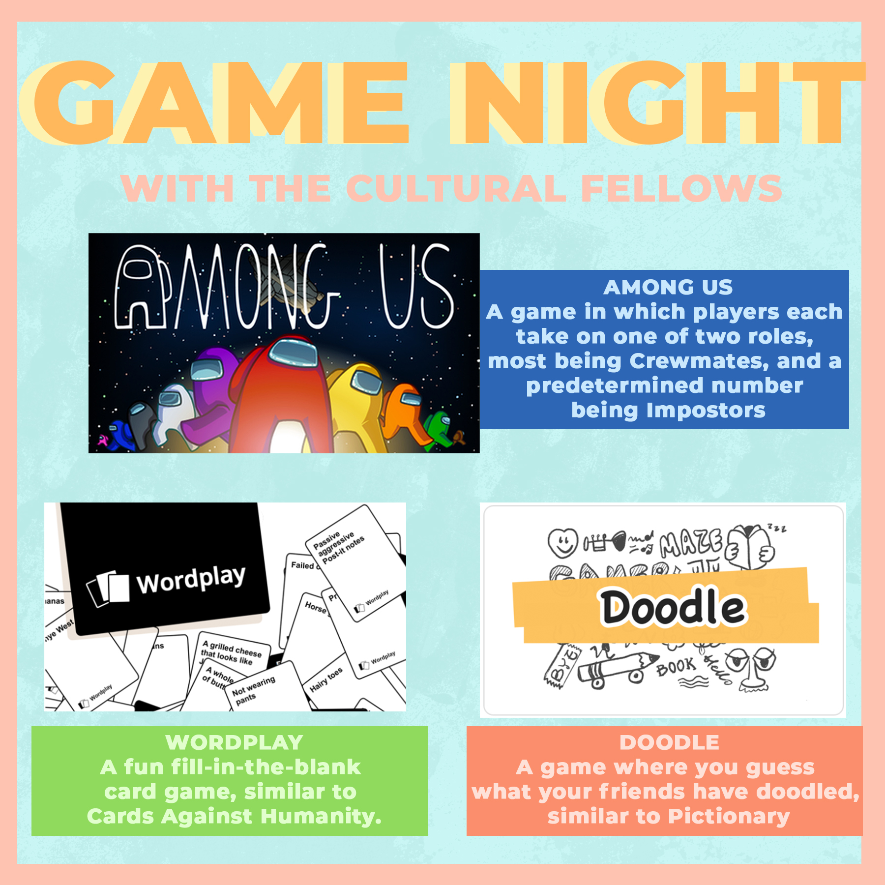 cultural fellow game night