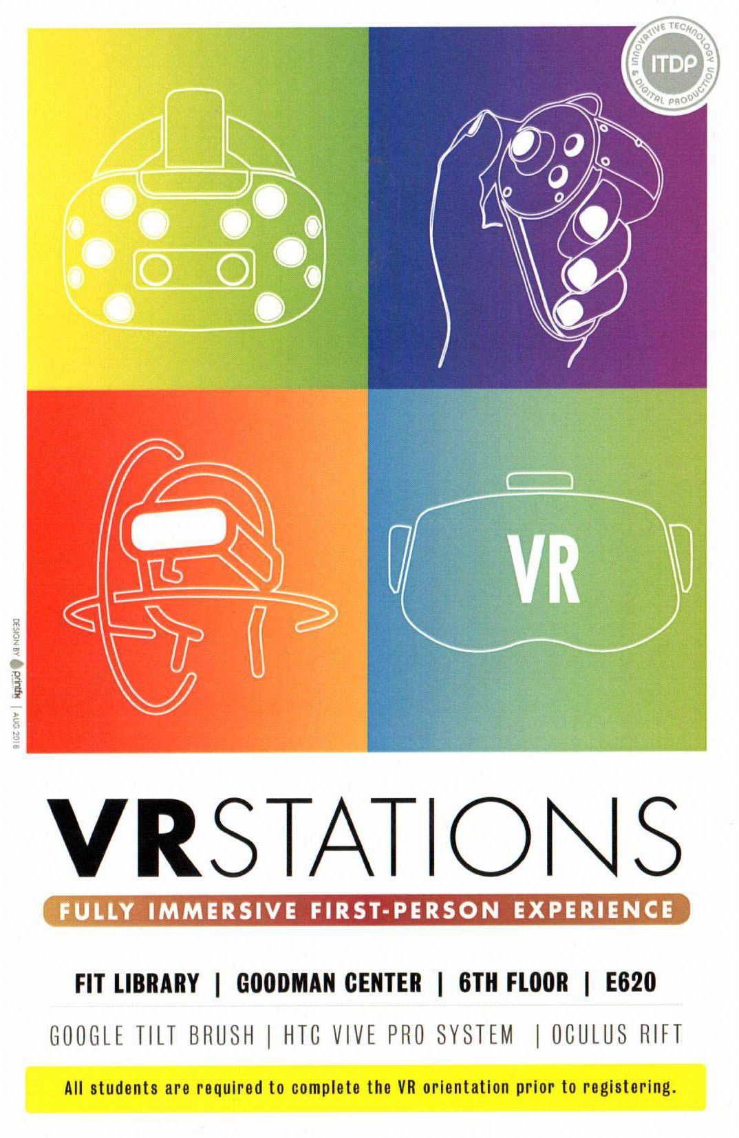 Student VR Stations promotional flyer