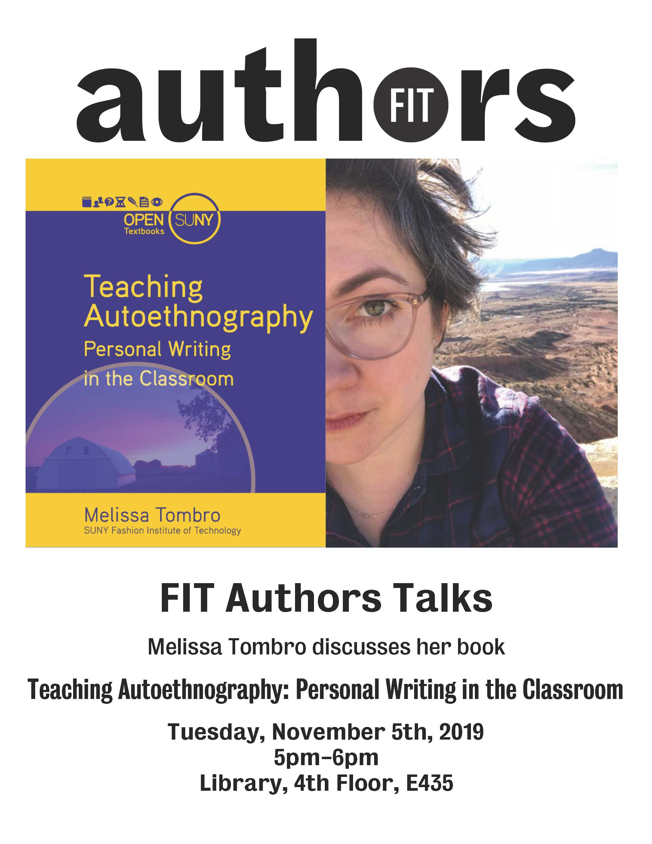 authors talks flyer