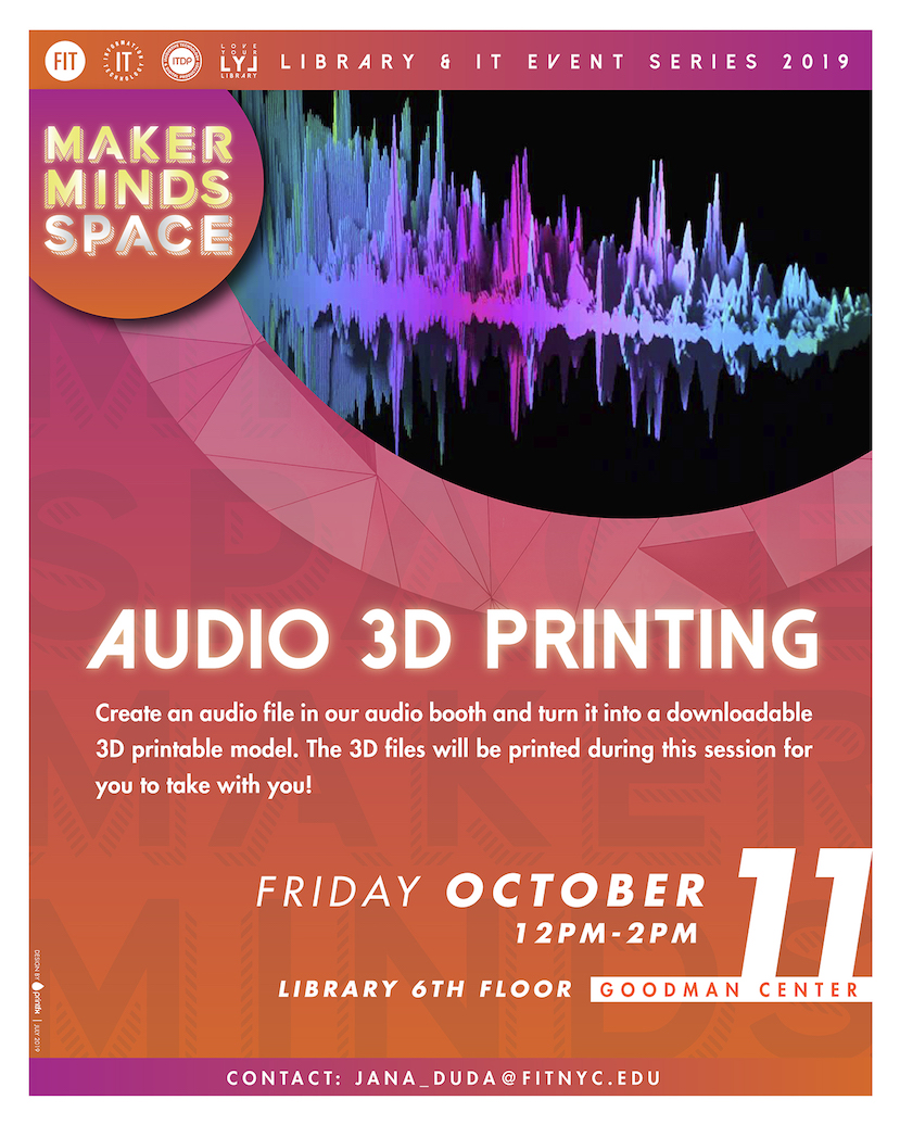 Audio 3D printing flyer