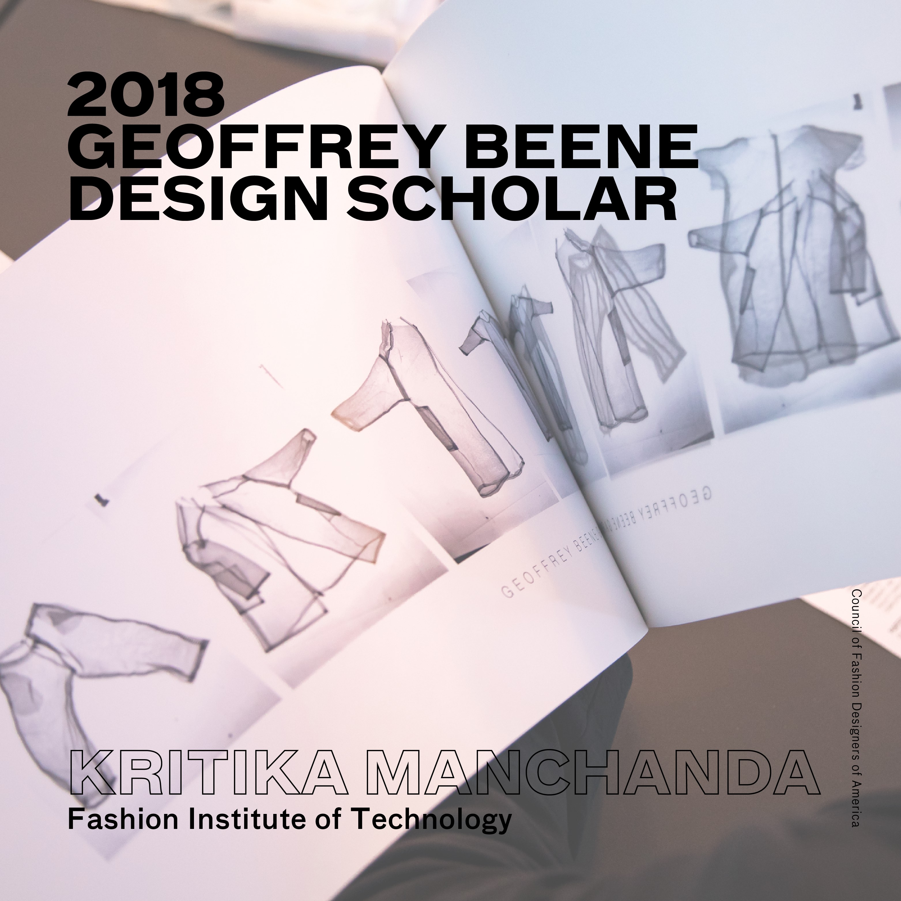 2018 Geoffrey Beene Design Scholarship Award Kritika Manchanada Fashion Institute of Technology