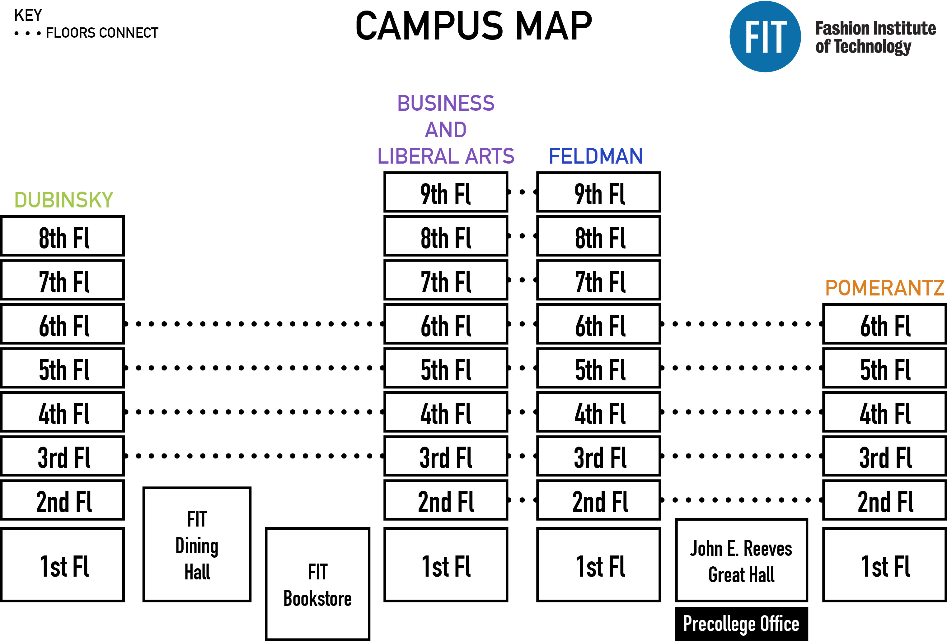 Fit Campus Map Campus Map | Fashion Institute of Technology Fit Campus Map