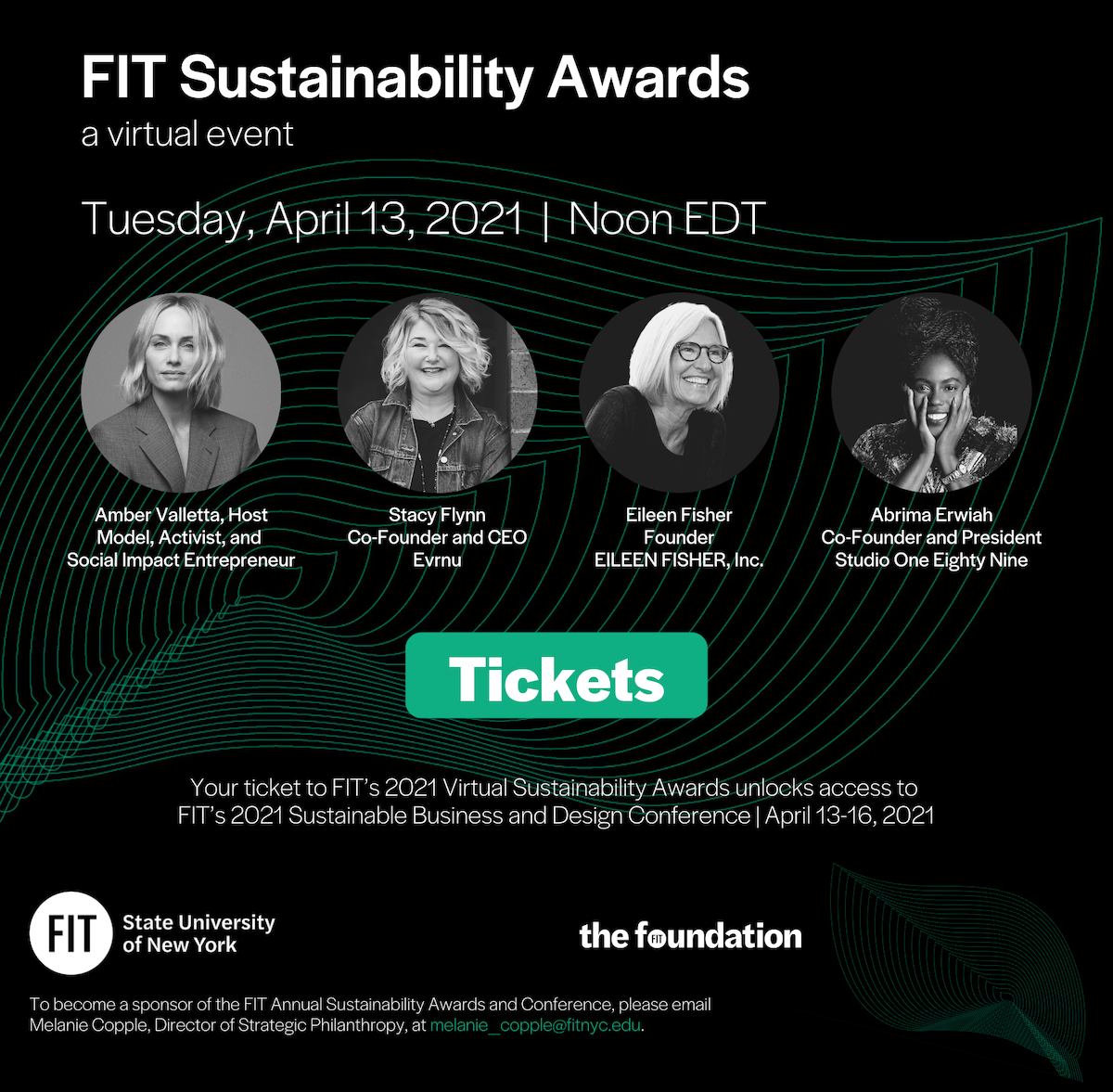 An image containing details about the 2021 FIT Sustainability Awards