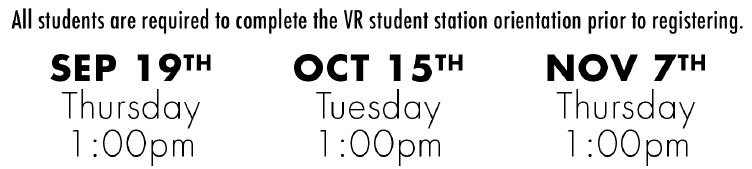 VR orientation dates for fall 2019 semester