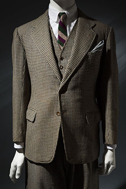 three piece patterned suit