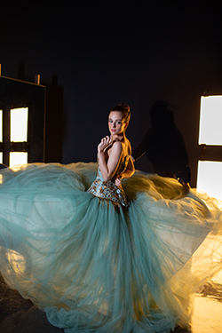 "Maggie Norris Couture, ""Angelique"" gown, 2012. Modeled by NYCB principal dancer Lauren Lovette. Photograph by Isabel Magowan"