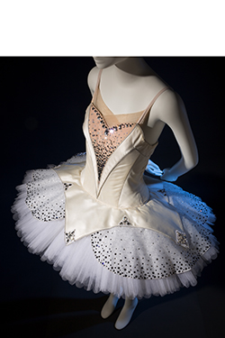 Mark Happel, Symphony in C costume, white silk satin, synthetic net, Swarovski crystals, 2012. Lent by the New York City Ballet. © The Museum at FIT