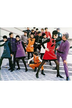 Pierre Cardin, Cosmocorps collection, 1967. Photograph by Yoshi Takata/DR.,  © Archives Pierre Cardin