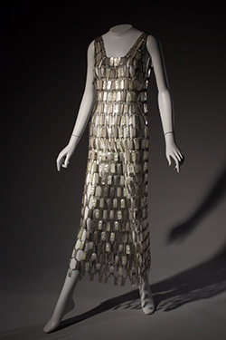 Paco Rabanne, wedding dress, circa 1968, France. Gift of Montgomery Ward.