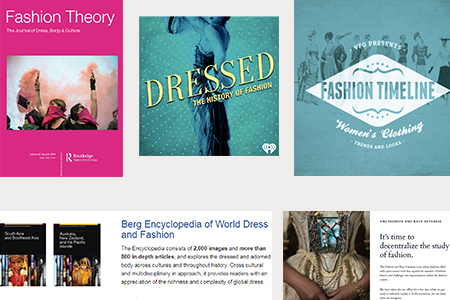 collage of fashion studies resources