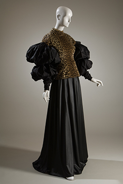 John Paul Gaultier, top and skirt, 1988 and 1987, France, Museum Purchase. P88.76.2 & P87.47.1