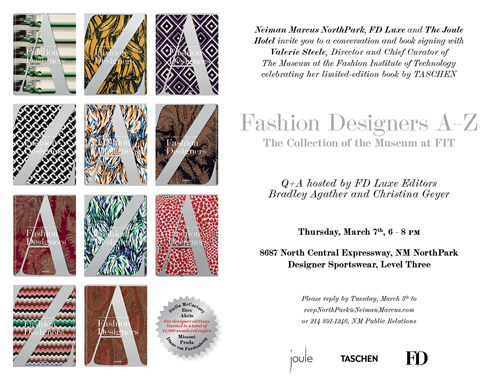 Fashion Designers A Z Book Tour Fashion Institute Of