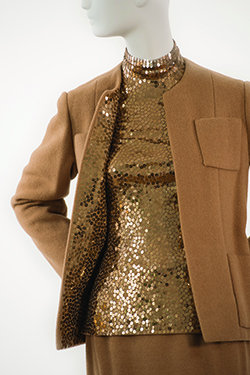 Camel Casmere Theatre Suit with Sequins