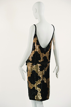 Giraffe Pattern Sequin Sheath Dress
