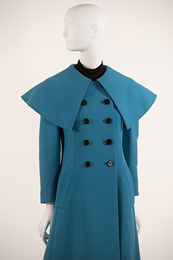 Prussian Blue Cape Collar Reefer Coat