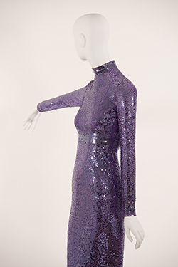 Purple Sequinned Mermaid Dress