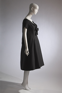 "Christian Dior (Yves Saint Laurent), ""Trapeze"" dress, spring 1958, gift of Sally Cary Iselin. 71.213.30"