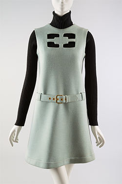 "Pierre Cardin, ""Cosmos"" dress, 1967, gift of Lauren Bacall. 72.91.30"
