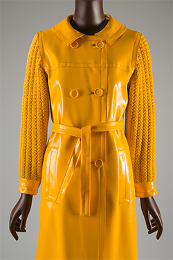 Yves Saint Laurent Rive Gauche, raincoat, 1966, gift of Ethel Scull. 77.21.4