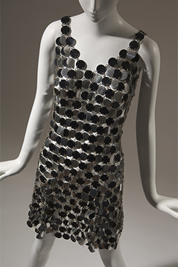 Paco Rabanne, dress, circa 1966, gift of Montgomery Ward. 81.48.1